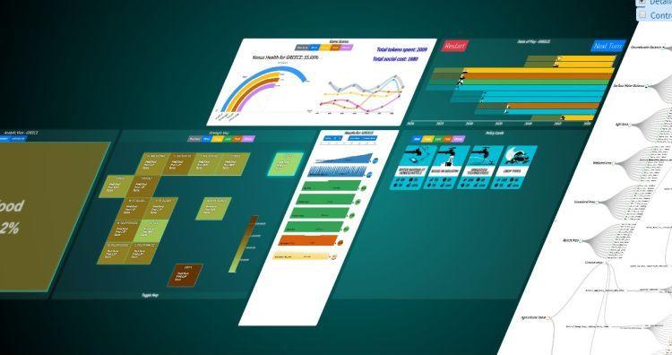 Figure 1: Screenshot from the SIM4NEXUS Serious Game