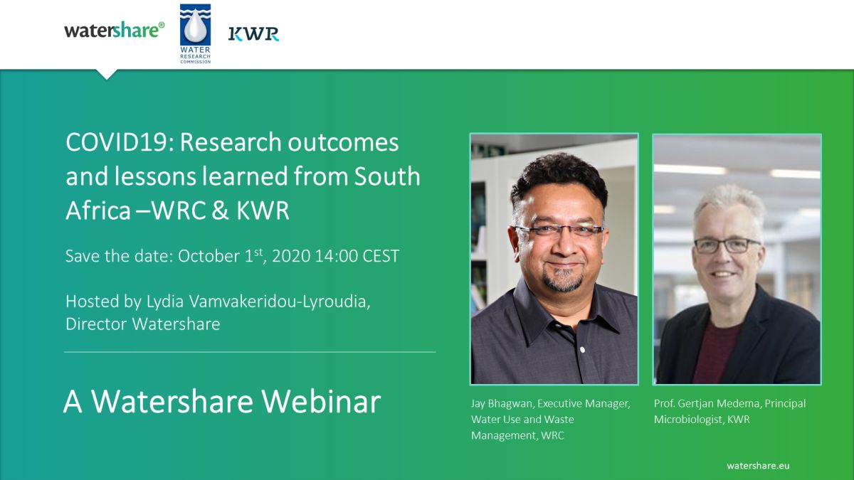 COVID19: Research outcomes and lessons learned from South Africa | Webinar from WRC and KWR